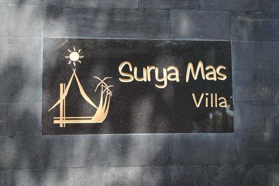 Surya Mas Villa : Villa Sign