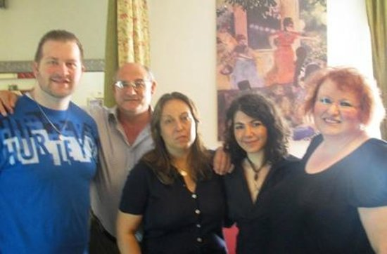 Hotel Maison Degas: My son and I with the owners and their staff.