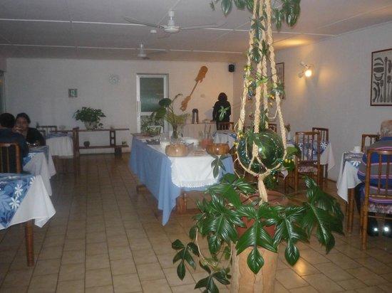 Hotel Manutara: salón dasayunador