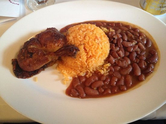 Pio Pio: Peruvian-style baked chicken served with choice of side (I chose yellow rice and beans)