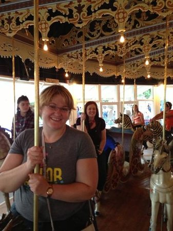 Kit Carson County Carousel: me and my friend on the ride