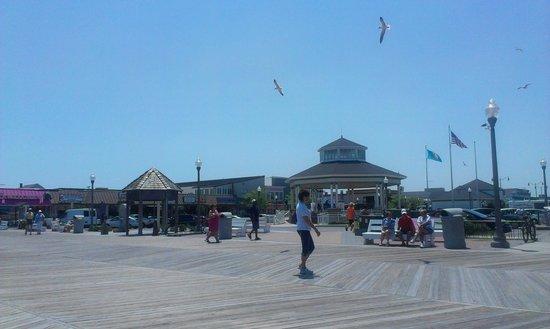 Rehoboth Beach Boardwalk: Boardwalk at Rehoboth Ave.