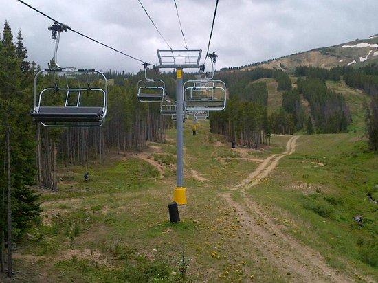 Breckenridge Ski Resort: Looking back from Chairlift