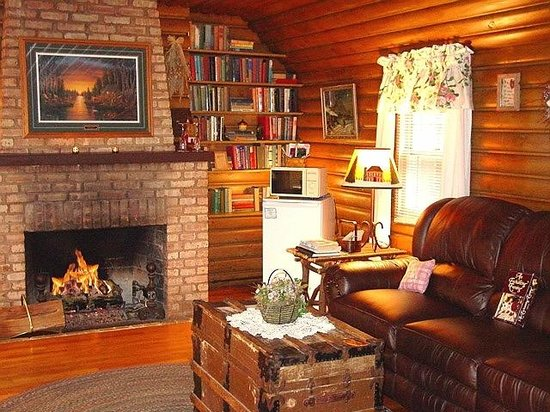 Lazy Cloud Lodge Bed And Breakfast: Living Room Area Of The Log Cabin Suite