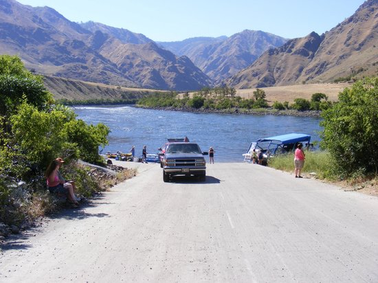 Killgore Adventures Hells Canyon Jet Boat Trips & Fishing Trips: View from the Landing