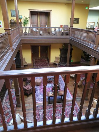 The Montvale Hotel: The atrium from the third floor