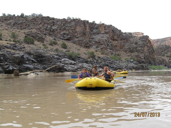 Westwater Canyon: Other rafts in our group.