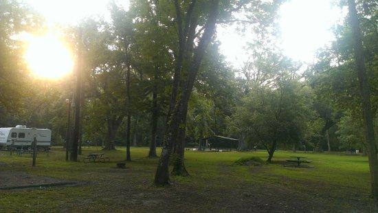 Acadiana Park Campground: sunrise