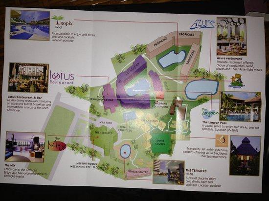 Hotel Complex Map Picture Of Centara Karon Resort Phuket Karon