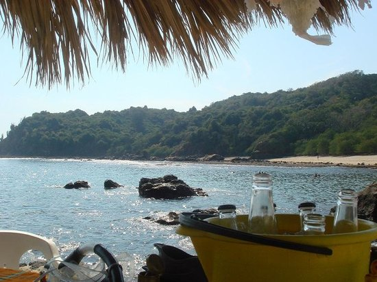 Club Med Ixtapa Pacific: View from beach of small island directly across from Club Med