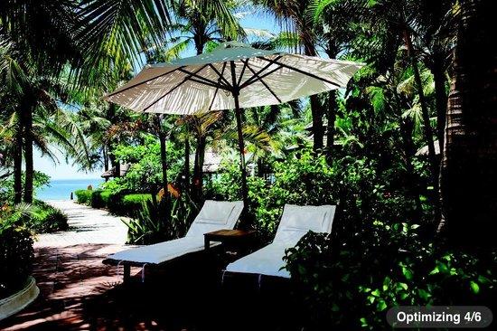 Lang Co Beach Resort: Green swiming pool & garden