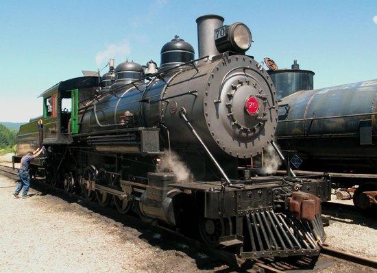 Mt. Rainier Scenic Railroad: Rainier Steam Locomotive at Mineral Lake