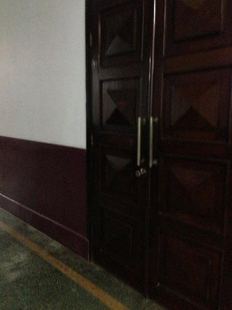 Seng Lao Hotel: THis used to be a cinema which explains this theatre doors