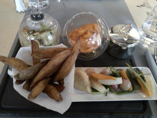 L'Atelier des Pleiades: A delicious vegetarian meal.
