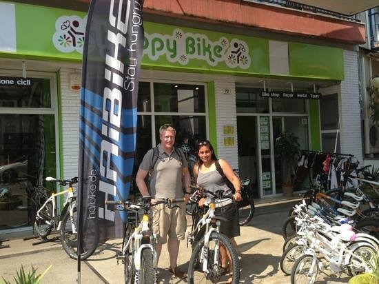Happy Bike: Electric Mountain Bikes - just perfect for getting up the hills!