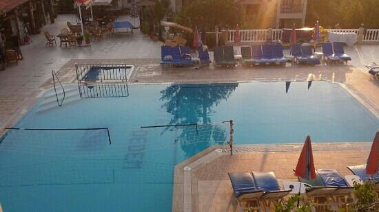 Hotel Dedem and Apartments: an arial view of the pool