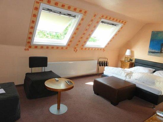 Dom Hotel Am Römerbrunnen: Stue/værelse
