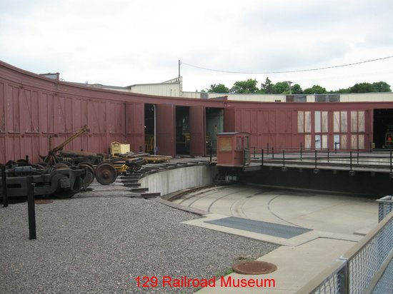 Jackson Street Roundhouse: View of the Roundhouse and Turntable