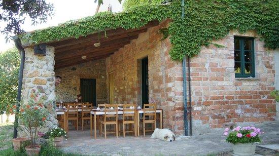 Agriturismo Sant'Emilia: die Terrasse