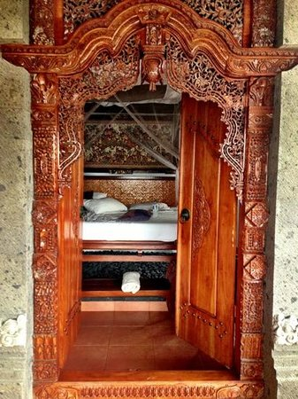 Bali Moon: bedroom seen from the balcony