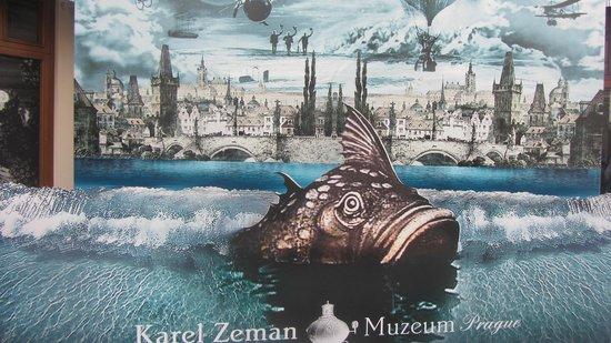 Karel Zeman Museum: At the entrance - shoot with the big fish