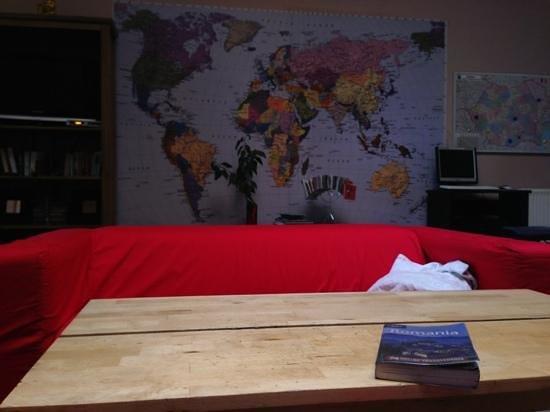 The Midland Hostel: living room