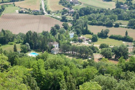 Countryhouse L'Ariete: L'Ariete von Montone aus gesehen