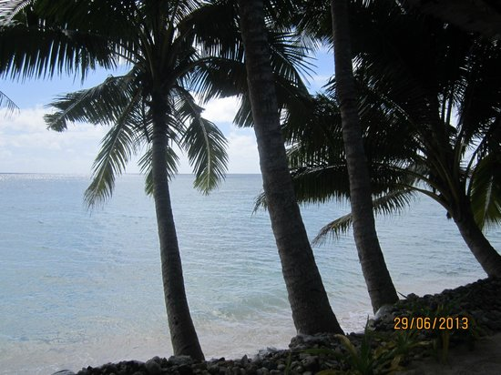 Vacations Beach Fales : View from our Fale  Only 1 metre away!