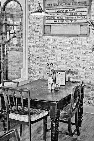 Vintage Tea Room: Beautiful Barnaby & Jones  wallpaper sits with Farrow & Ball colours