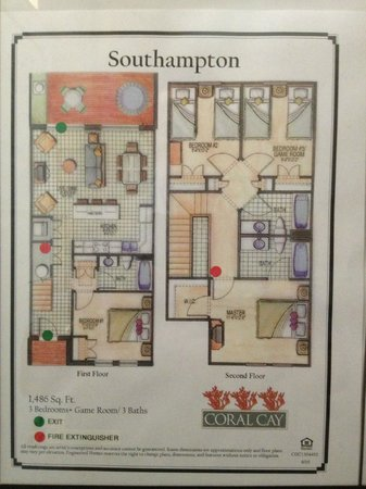 Coral Cay Resort : Floor plan to house 2405