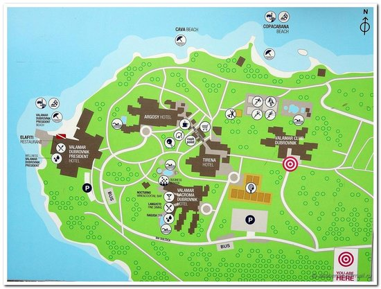 Valamar Club Dubrovnik : Схема территории