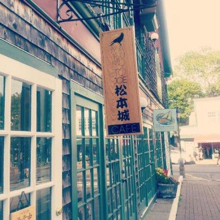 Matsumoto Joe Cafe Sign outside the store!