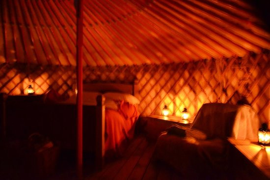 Mid Wales Tipis: Yurt by candlelight