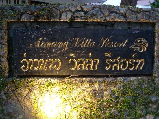 Aonang Villa Resort: Sign at beach front