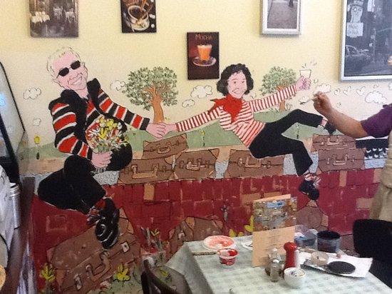 City Cafe: Cafe mural