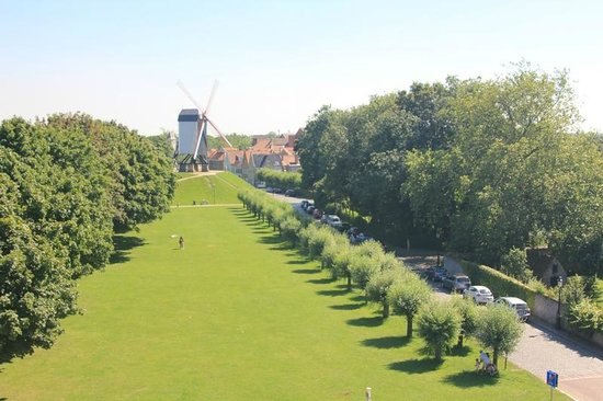 St Janshuis and Koelewei Mills: The view from the mill