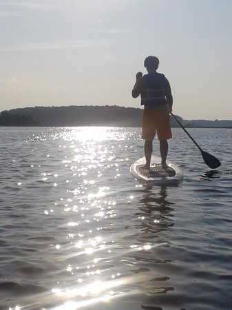 Delmarva Board Sport Adventures: Sunset on bay with board =BEAUTIFUL!