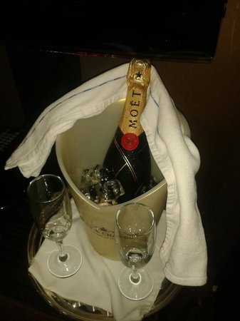 Cranleigh Boutique: More champagne purchased from the Cranleigh and bought to my suite at the requested time I speci