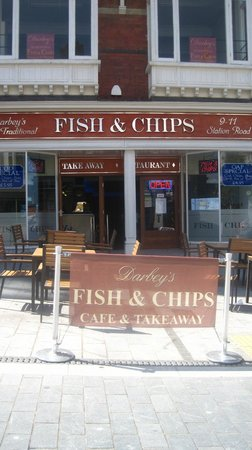 Darbey's Traditional Fish & Chips: front of restaurant outside