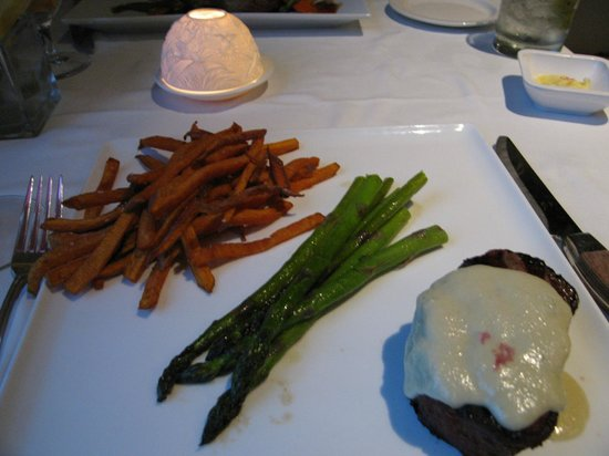 Bretton Arms Dining Room: A filet with sweet potato fries