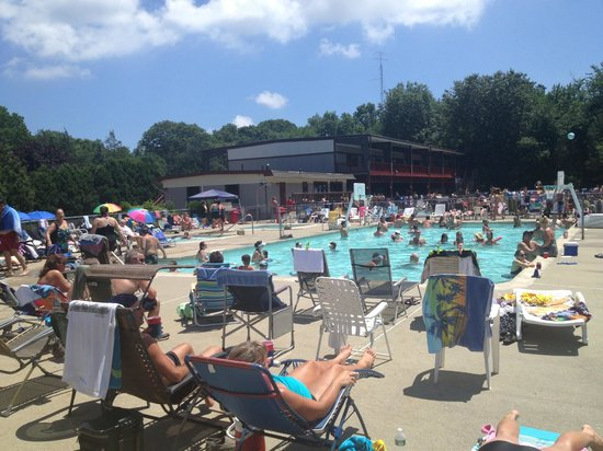 Strawberry Park Resort: Adult Pool on Fourth of July weekend!