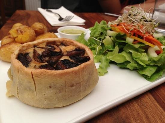 Cafe Forte: mushroom and cheese quiches