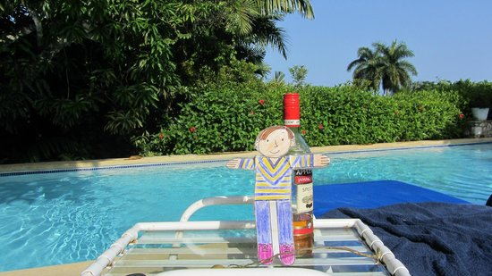 Round Hill Hotel & Villas : Flat Stanley enjoyed the complimentary bottle of rum