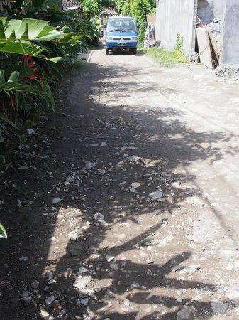 ซาเนอพาราไดซ์พลาซาสวีต: Back road leading to Sanur shopping area.