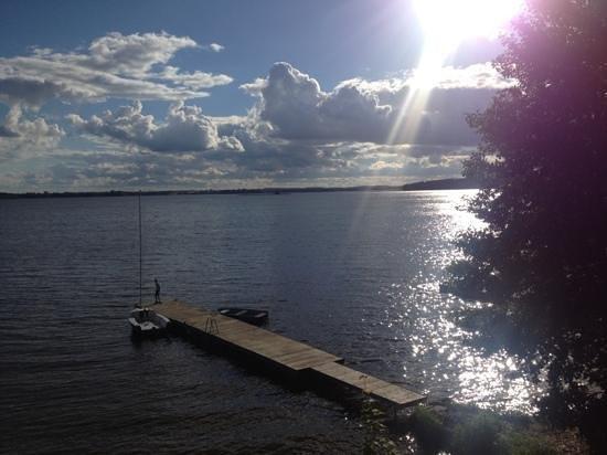 Stara Szkola: jezioro Łośmiady -widok ze Starej Szkoły