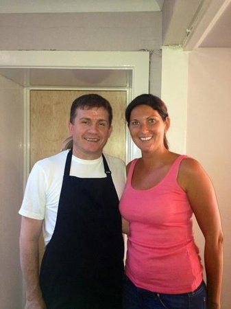Xenis Cuisine: me and Xeni (the chef)