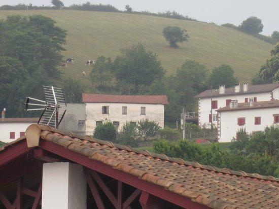 Hotel Restaurant Eskualduna: Vue d'une chambre côté montagne