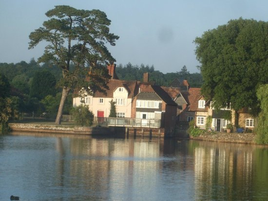 Mill House B&B: view across the mill pond
