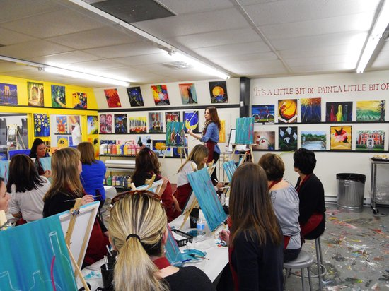 """Painting with a Twist: Paying careful attention to our """"teacher"""""""