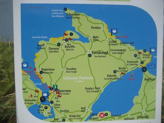 Buncrana Beach: Inishowen Map